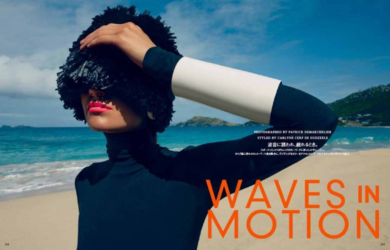 Magdalena Langrova by Patrick Demarchelier for Vogue Japan July 2013
