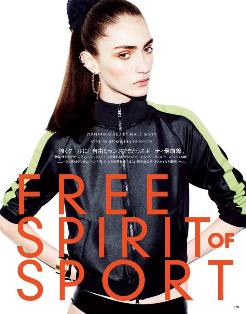 Marine Deleeuw by Matt Irwin for Vogue Japan July 2013