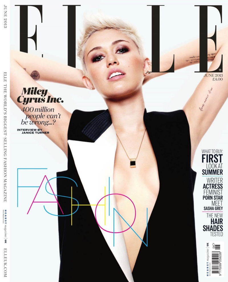 Miley Cyrus By Jan Welters For Elle UK June 2013