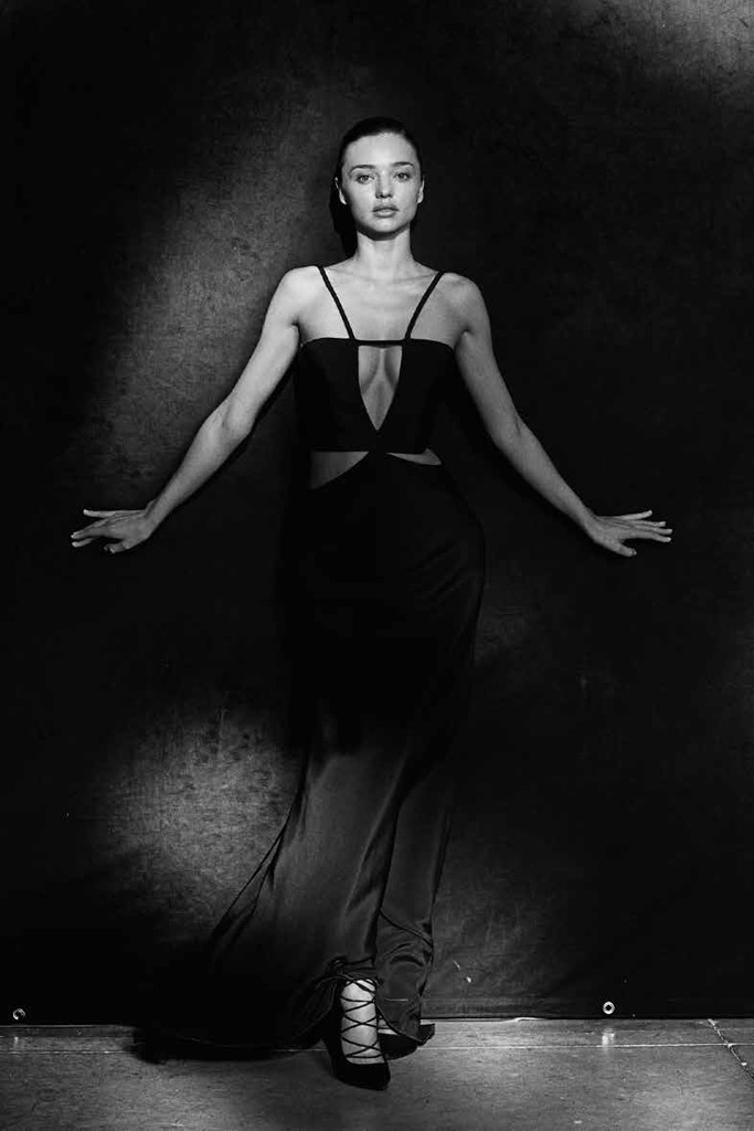 Miranda Kerr in Cushnie et Ochs. Photo by Peter Lindbergh