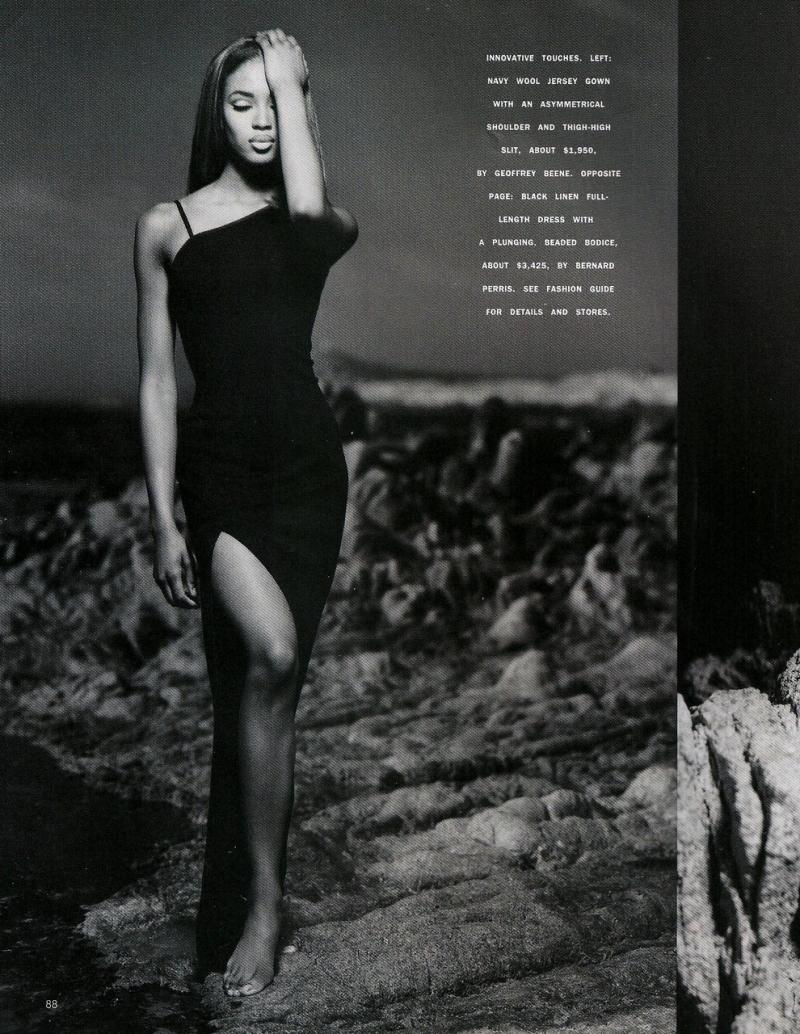 Naomi Campbell by Matthew Rolston for Harper's Bazaar June 1991