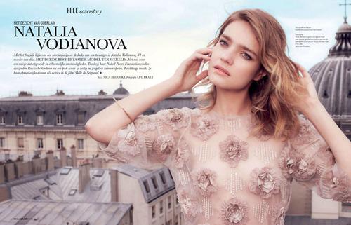 Natalia Vodianova By Luc Praet For Elle Belgium June 2013