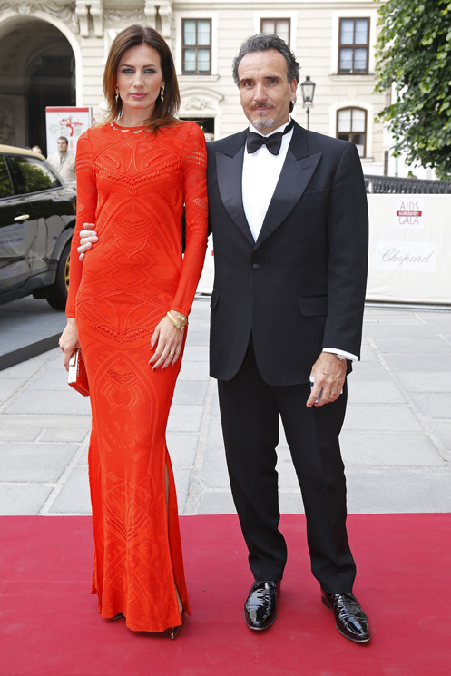 VIENNA, AUSTRIA - MAY 25:  Nieves Alvarez and husband Marco Severini attend the 'AIDS Solidarity Gala 2013' at Hofburg Vienna on May 25, 2013 in Vienna, Austria.  (Photo by Thomas Niedermueller/Life Ball 2013/Getty Images)
