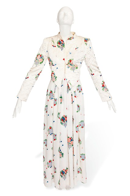 Suzy Menkes To Auction Her Wardrobe  Ossie Clark dress printed with a Celia Birtwell floral design, with a matching quilted jacket  Estimate- £1,000 - £2,000