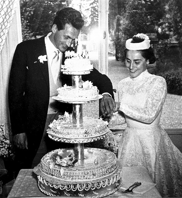 Ottavio and Rosita on their wedding day 18 April – 1953.