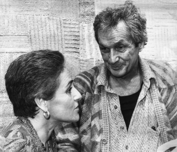 ottavio missoni with his wife