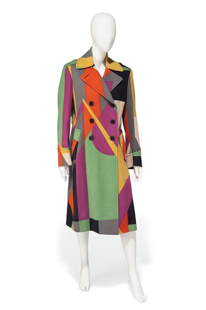 Suzy Menkes To Auction Her Wardrobe  Paul Smith multi-coloured trench coat  Estimate- £200 and £400