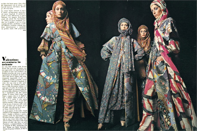 Photo by Barry Lategan 1970 Dresses Valentino Vogue Italia, March 1970