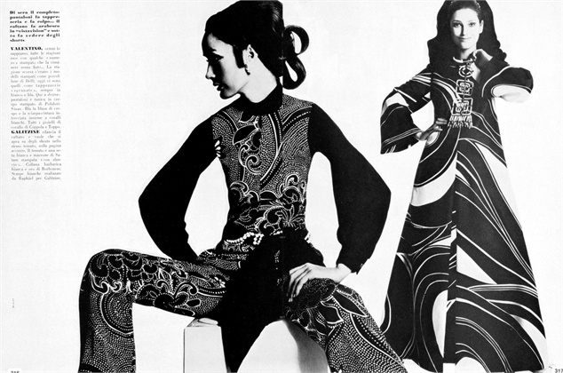 Photo by Bugat 1969 Dress Galitzine  Vogue Italia, March 1969