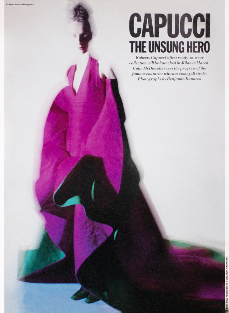 "Roberto Capucci ""The Unsung Hero"" By Benjamin Kanarek For W Magazine 1990 ©Benjamin Kanarek"