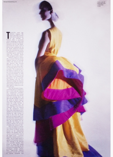 "Roberto Capucci ""The Unsung Hero"" By Benjamin Kanarek For W Magazine 1990 ©Benjamin Kanarek"