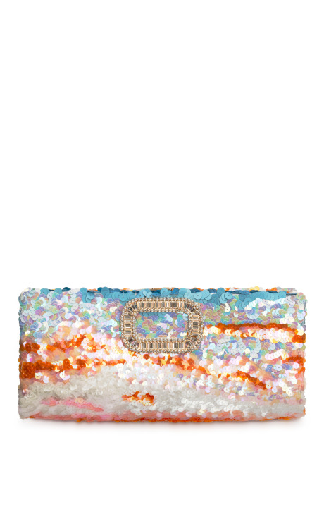 Roger Vivier: Limited Edition Rendez-Vous Collection Pailletes  In The Sky Clutch