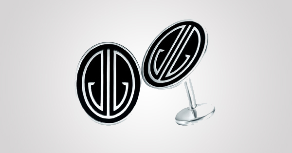Ziegfeld monogram cuff links of black enamel and sterling silver. From The Great Gatsby collection by Tiffany & Co., inspired by Baz Luhrmann's film in collaboration with Catherine Martin. $350 Photo Credit: © Tiffany & Co.