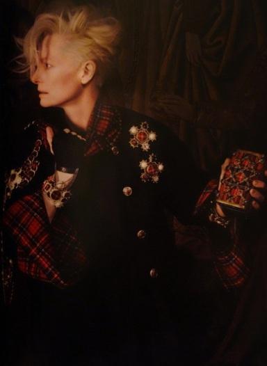 Tilda Swinton by Karl Lagerfeld for Chanel Paris-Edinburgh 2013 Ad Campaign