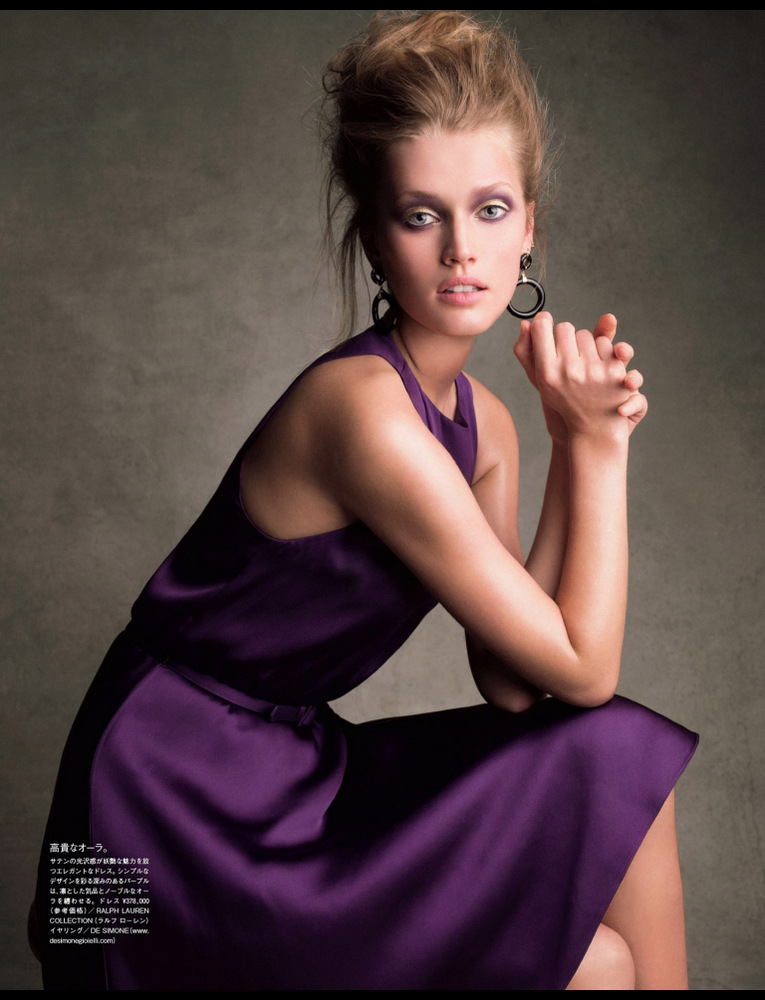 Toni Garrn By Victor Demarchelier For Vogue Japan July 2013