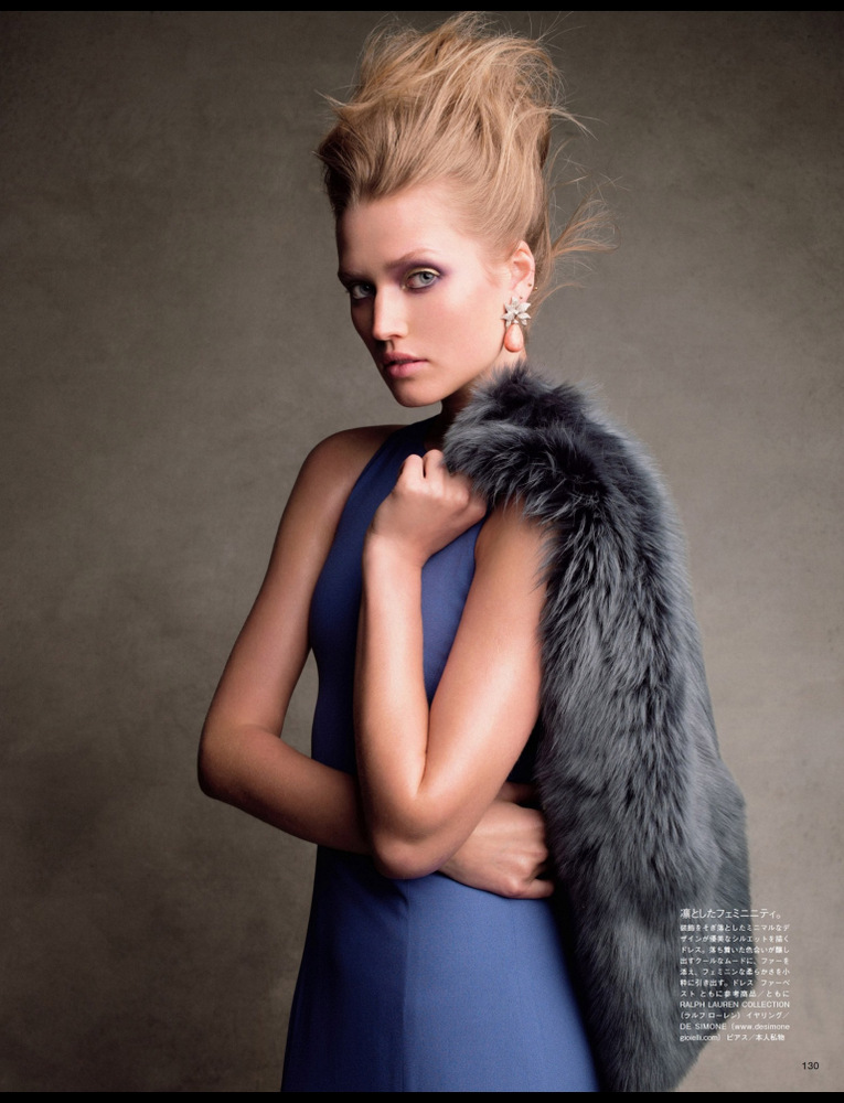 Toni Garrn By Victor Demarchelier For Vogue Japan July 2013