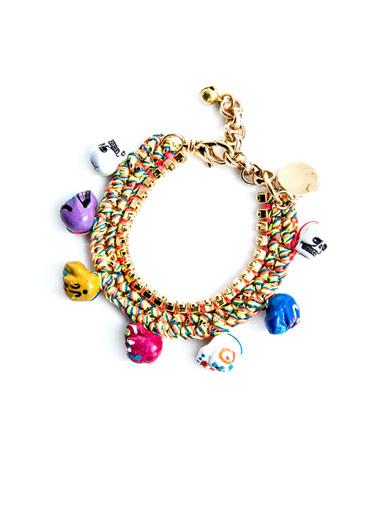 VENESSA ARIZAGA Arena Mexico skull charm bracelet