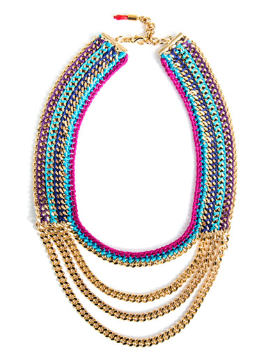 VENESSA ARIZAGA Cabo Sunset plaited necklace