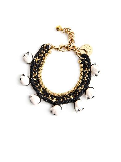 VENESSA ARIZAGA Fool's gold skull charm bracelet