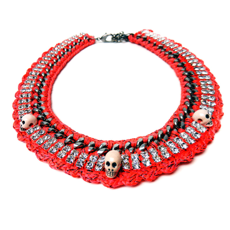 VENESSA ARIZAGA SCARLET Begonias Necklace