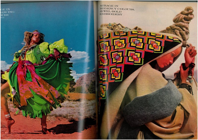 Veruschka by Franco Rubartelli for Vogue US July 1968