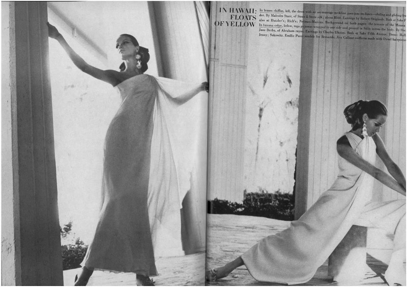 Veruschka by Franco Rubartelli for Vogue US November 1966