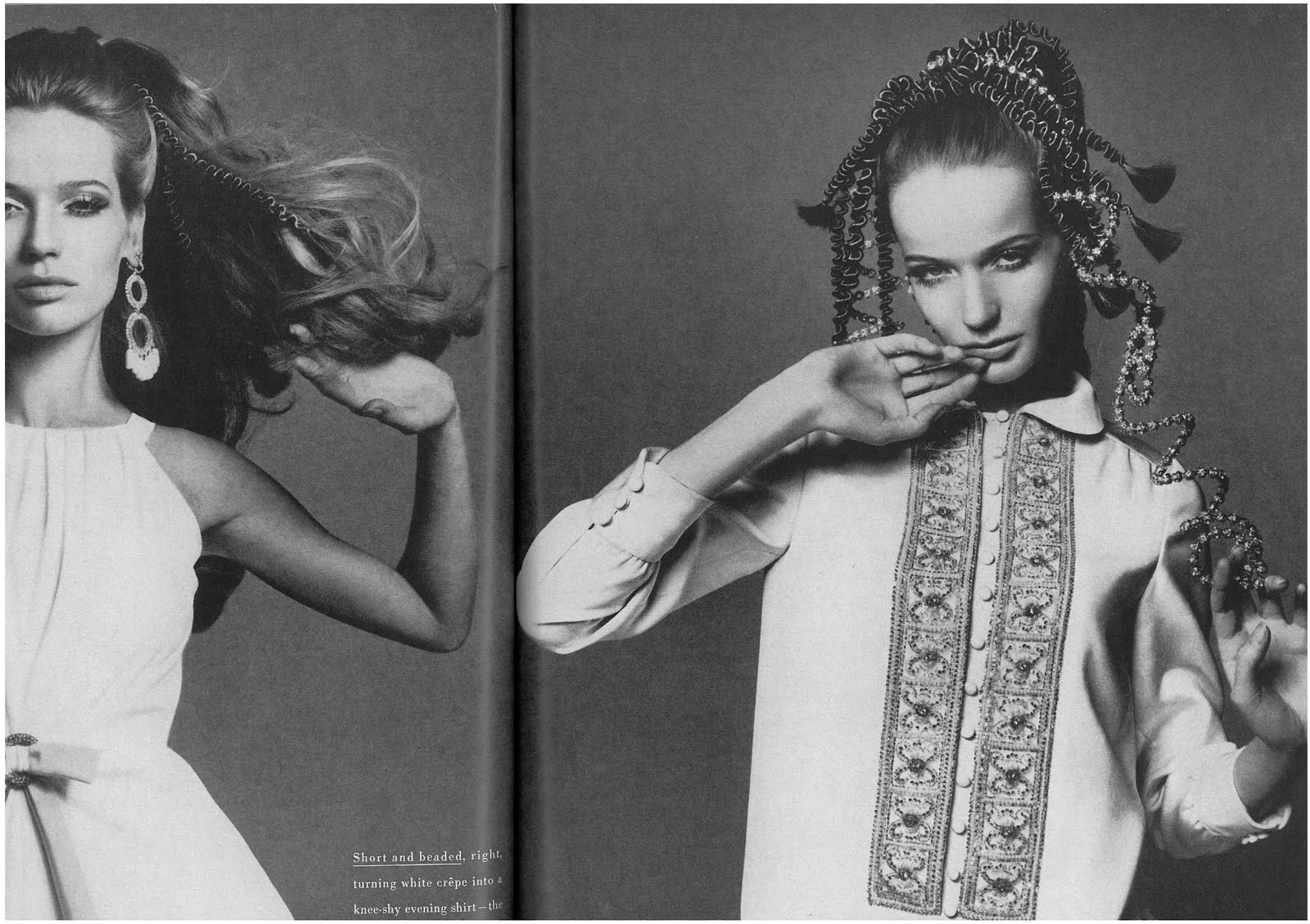 veruschka by richard avedon for vogue us march 19673