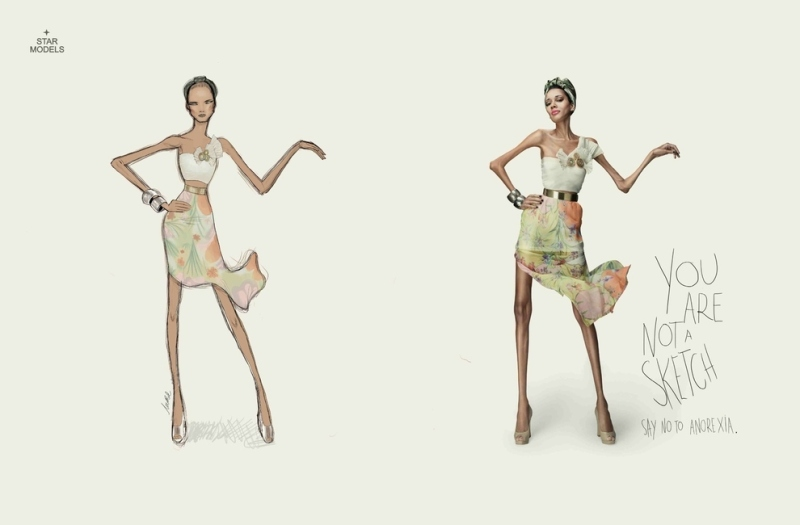 You Are Not A Sketch , Say No To Anorexia By Star Models Brazil