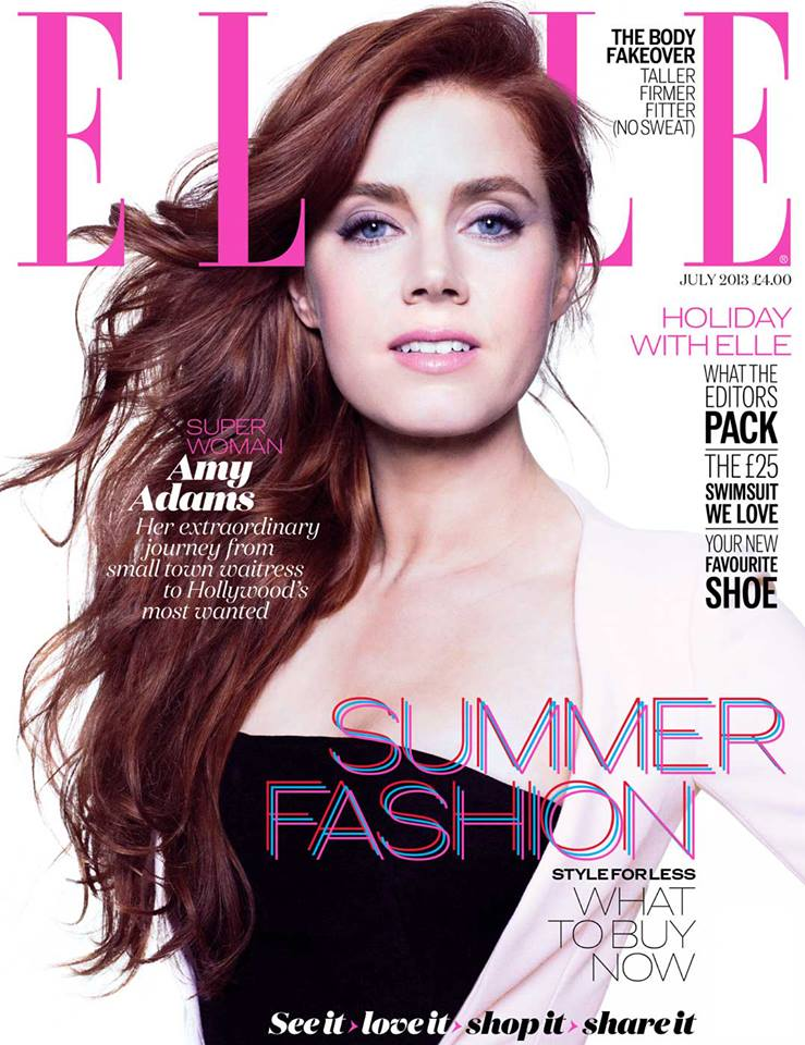 Amy Adams by Jan Welters for ELLE UK July 2013