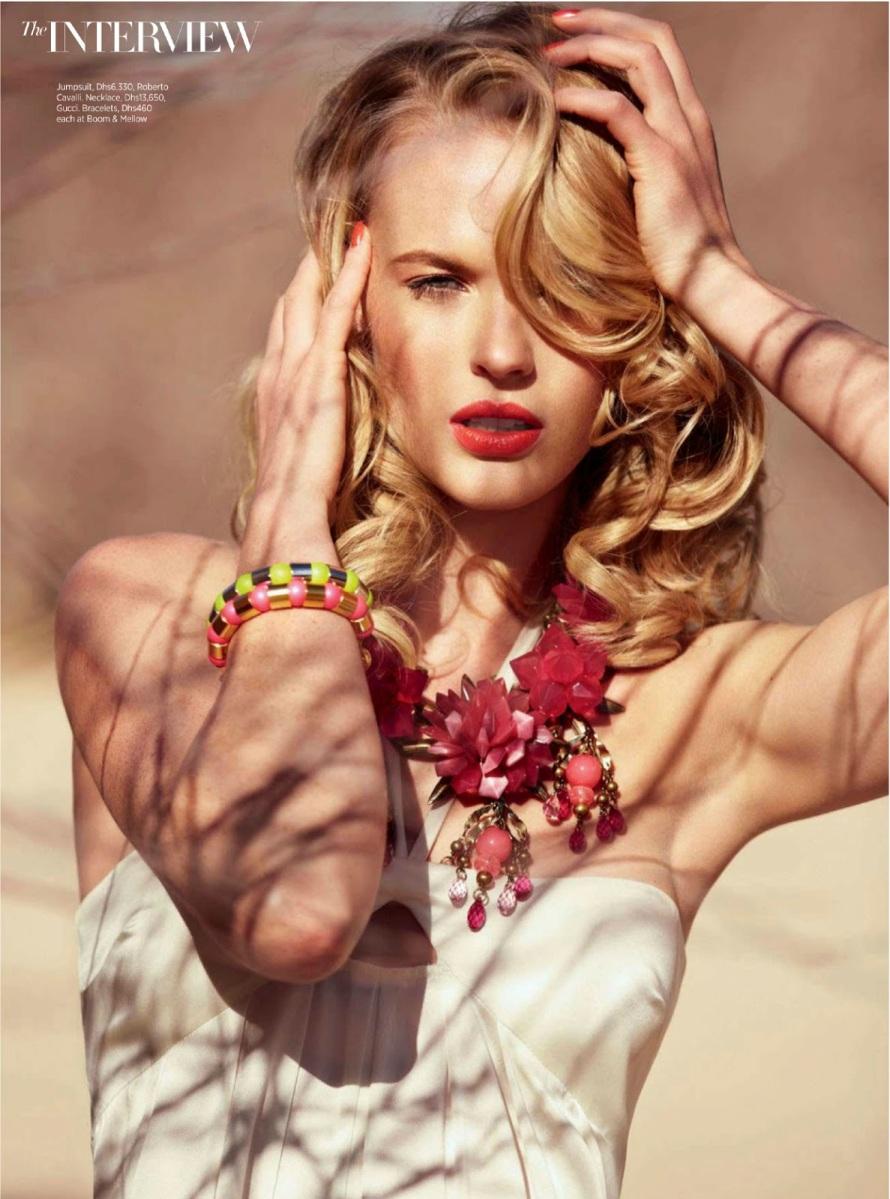 Anne Vyalitsyna By John Russo For Harper's Bazaar Arabia June 2013