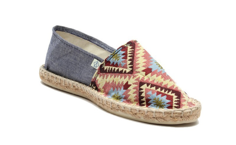 Arsène  Ethnic print denim and rope espadrilles, €30