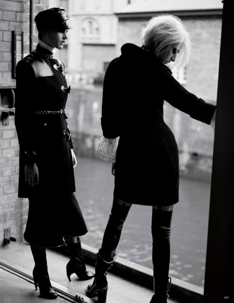 Ashleigh Good & Saskia De Brauw by Karl Lagerfeld for Vogue Germany July 2013