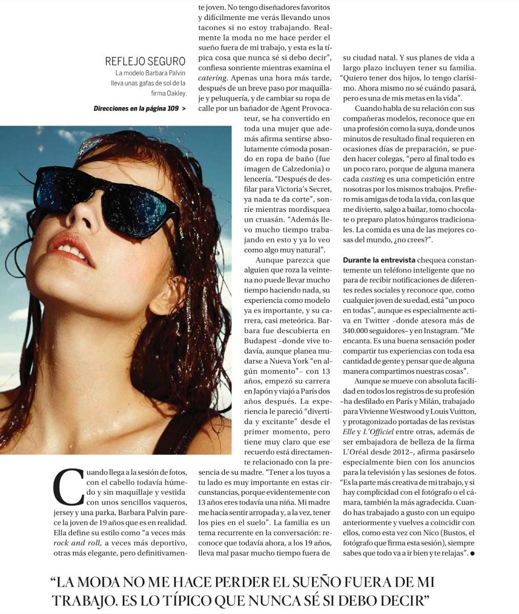 Barbara Palvin By Nico For El País Semanal 9Th June 2013
