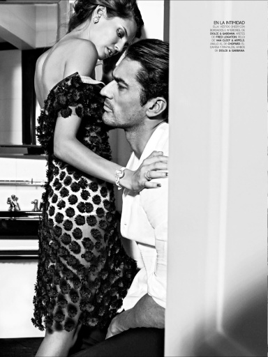 Bianca Balti And David Gandy By Stephanie Pfriender Stylander For Vogue Hombre Mexico S/S 2013