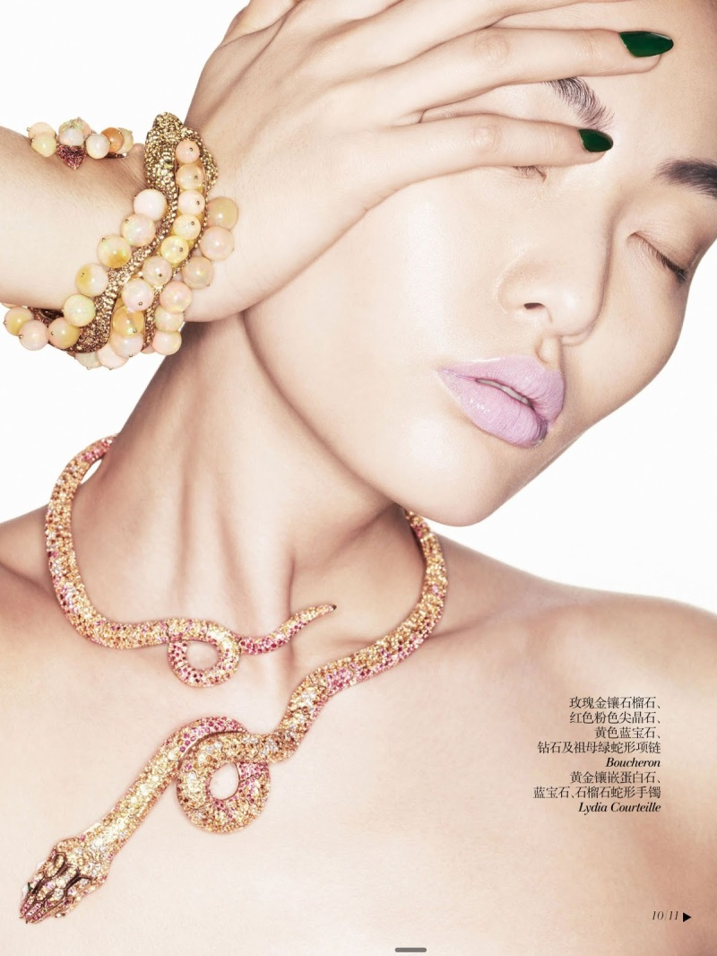 Bonnie Chen by Eric Maillet for Vogue China Collections Summer 2013