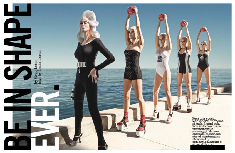 Bryn English, Karina G, Ioanna, Gintare by Greg Lotus for Vogue Italia June 2013