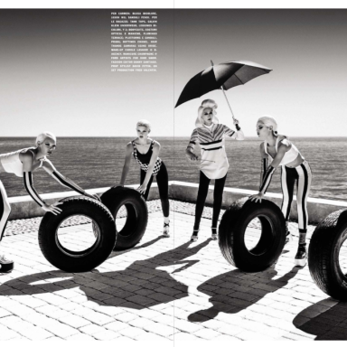 Bryn English, Karina G, Ioanna, Gintare by Greg Lotus for Vogue Italia June 2013