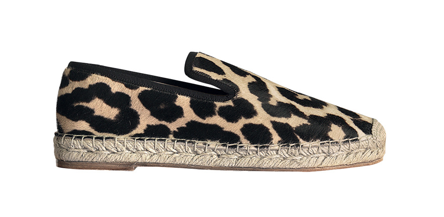Céline Leopard print ponyskin and rope espadrilles, price on demand.
