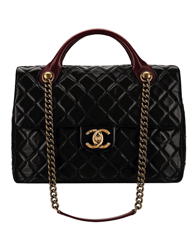 CHANEL Black quilted leather bag with a CC lock