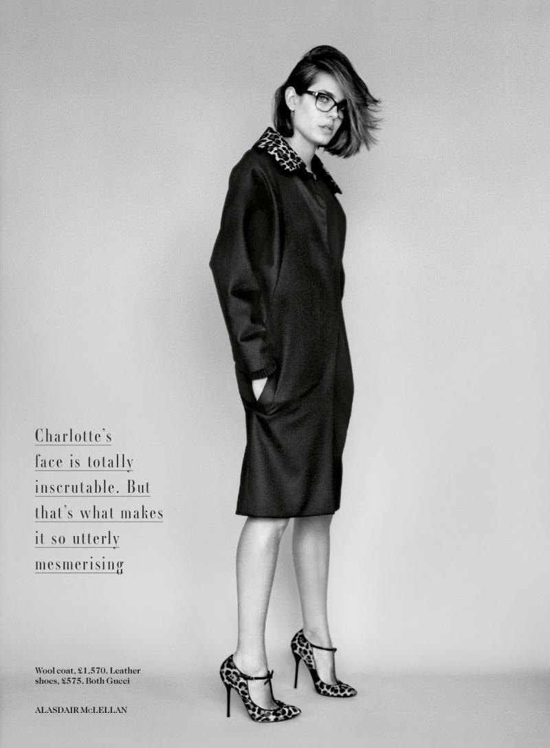 Charlotte Casiraghi by Alasdair McLellan for Vogue UK July 2013