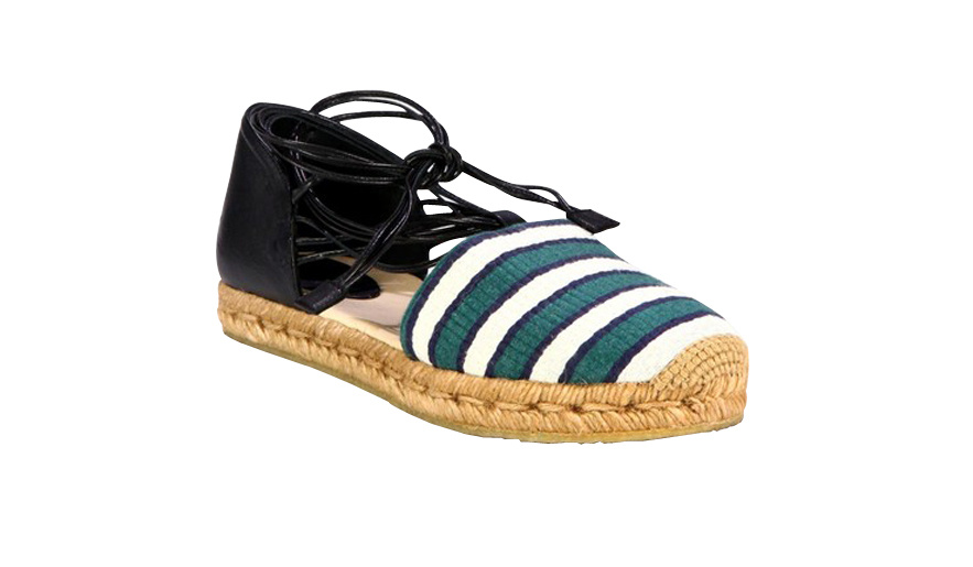 Chloé Striped cotton and rope espadrilles, price on demand