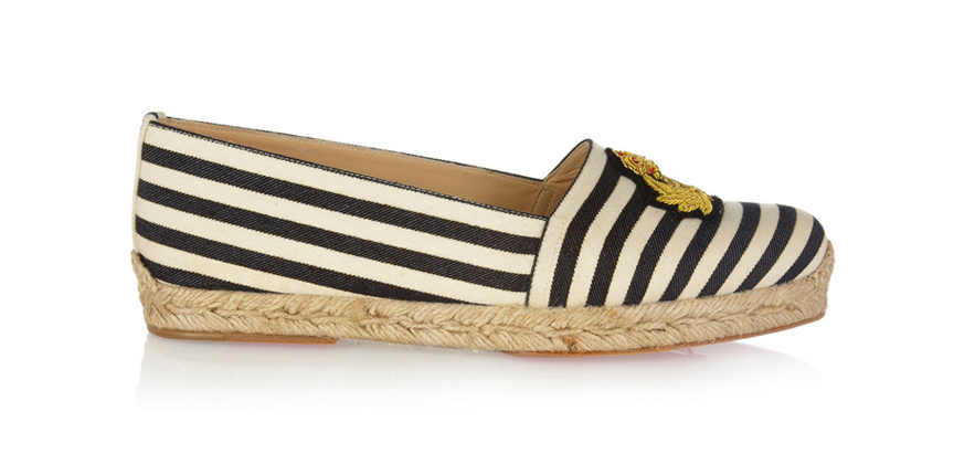 Christian Louboutin Striped canvas and rope Galia, €295