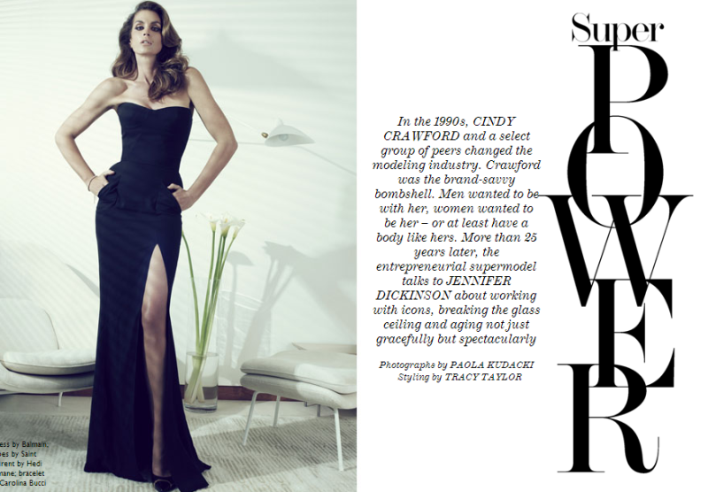 Cindy Crawford by Paola Kudacki for The Edit May 30, 2013