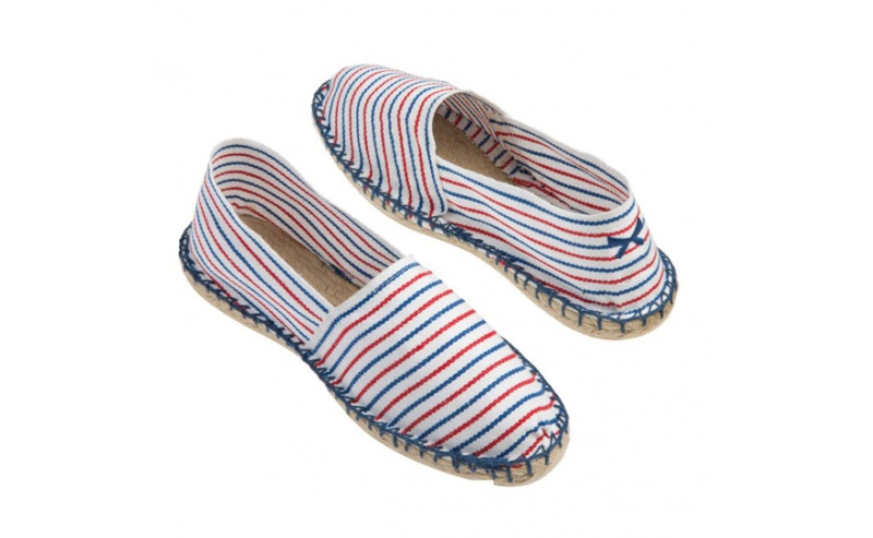 Claudie Pierlot x Le Slip Francais x Cala  Striped cotton and rope espadrilles, €40