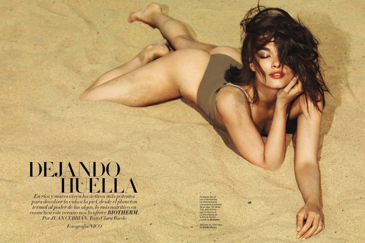 Crystal Renn by Nico for Harper's Bazaar Spain July/August 2013