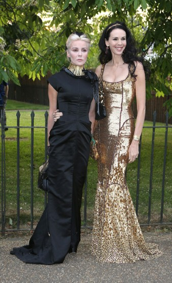 Daphne Guinness with the event's host, L'Wren Scott