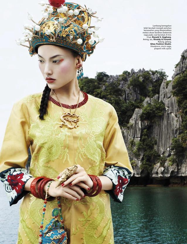 Dara Warganegara genom Nico Patricia Malina för Harpers Indonesien Årsdag basaren frågan
