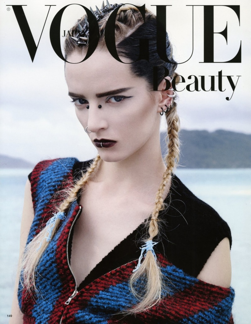 Daria Strokous by Francois Nars for Vogue Japan August 2013