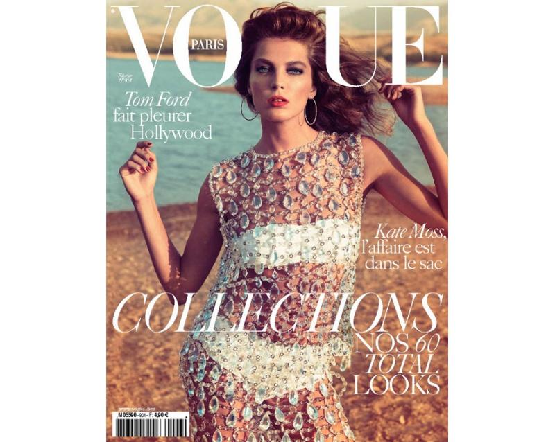 Daria Werbowy by Inez & Vinoodh for Vogue Paris February 2010