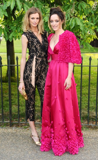 Designer Alice Temperley with her muse and model, Jacquetta Wheeler, both wearing Temperley